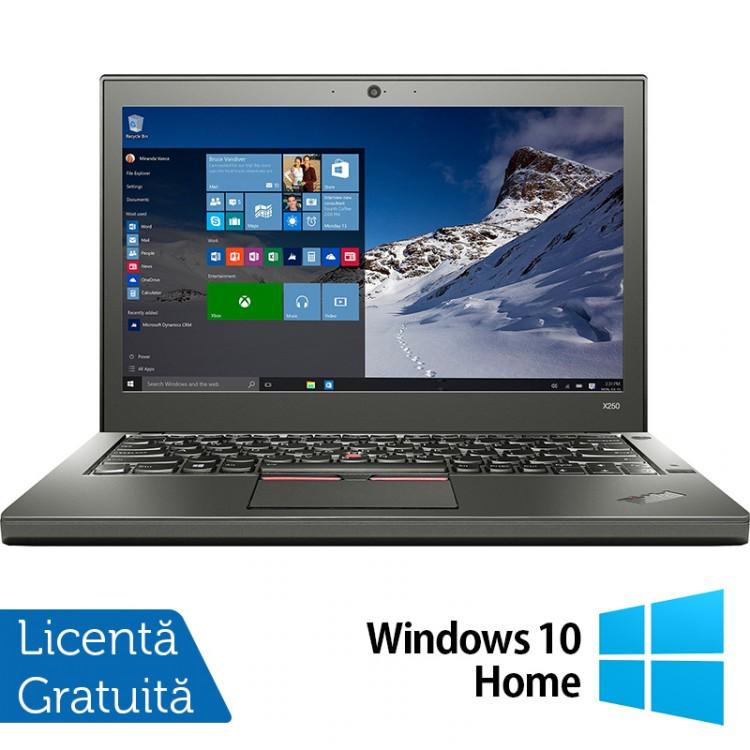 Laptop Lenovo Thinkpad X250, Intel Core i5-5300U 2.30GHz, 8GB DDR3, 500GB SATA, 12.5 Inch + Windows 10 Home