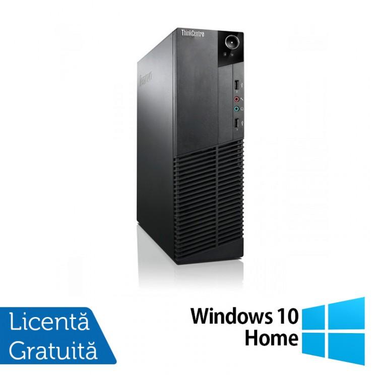 Calculator Lenovo Thinkcentre M83 SFF, Intel Core i5-4570 3.20 GHz, 8GB DDR3, 500GB SATA, DVD-RW + Windows 10 Home