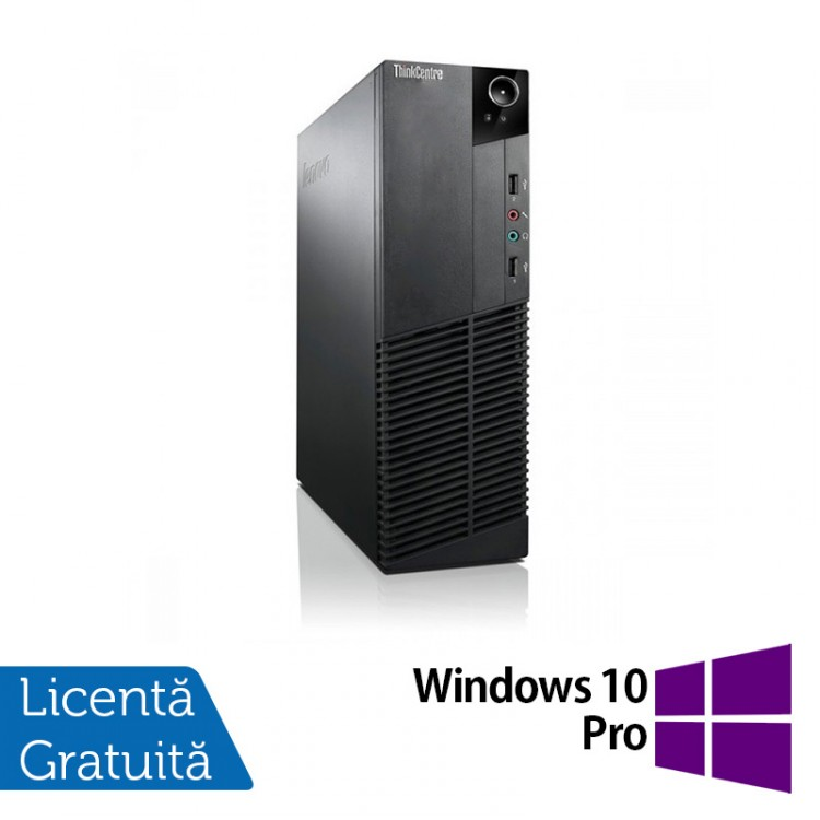 Calculator Lenovo Thinkcentre M83 SFF, Intel Core i5-4570 3.20 GHz, 8GB DDR3, 500GB SATA, DVD-RW + Windows 10 Pro